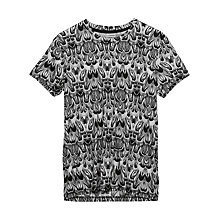 Buy J. Lindeberg Sev Feathers Crew Neck Jersey T-Shirt, White Online at johnlewis.com