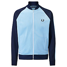 Buy Fred Perry Sports Authentic Bomber Track Jacket, Sky Blue Online at johnlewis.com