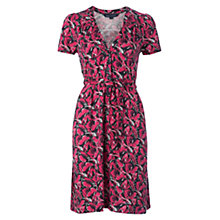 Buy French Connection Floral Tea Dress, Red/Black Online at johnlewis.com