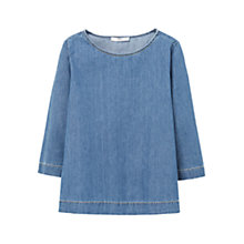 Buy Mango Denim Blouse, Opal Blue Online at johnlewis.com