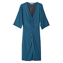Buy Mango Ruched Detail Dress, Dark Blue Online at johnlewis.com