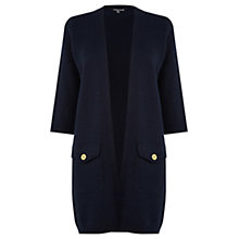 Buy Warehouse Button Pocket Milano Cardigan, Navy Online at johnlewis.com