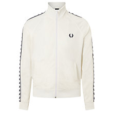 Buy Fred Perry Sports Authentic Laurel Tape Track Jacket, Snow White Online at johnlewis.com