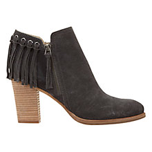 Buy Mint Velvet Granite Block Heeled Ankle Boots, Grey Suede Online at johnlewis.com