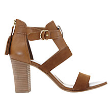 Buy Mint Velvet Piper Block Heeled Sandals, Tan Leather Online at johnlewis.com