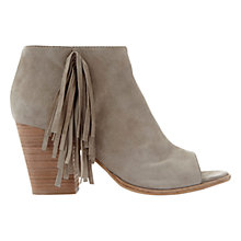 Buy Mint Velvet Meg Tassel Detail Open Toe Ankle Boots Online at johnlewis.com