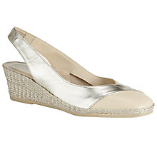 Buy John Lewis Karla Sling Back Court Shoes, Natural Online at johnlewis.com
