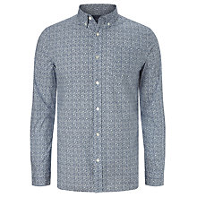 Buy John Lewis Railing Printed Shirt, Navy Online at johnlewis.com