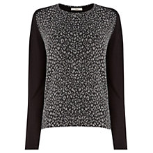 Buy Oasis Animal Jumper, Black Online at johnlewis.com
