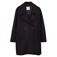 Buy Mango Lapels Double Breasted Wool Coat, Black Online at johnlewis.com
