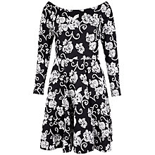 Buy Closet Bardot Dress, Black/White Online at johnlewis.com
