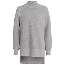 Buy French Connection Ottoman Oversized Jumper, Light Grey Marl Online at johnlewis.com