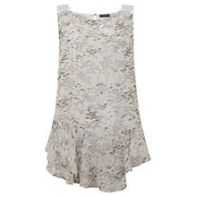 Buy Mint Velvet Gia Print Ruffle Hem Top, Multi Online at johnlewis.com