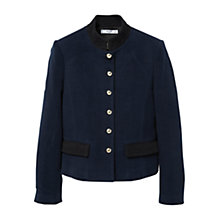 Buy Mango Buttoned Cotton Jacket, Navy Online at johnlewis.com