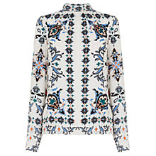 Buy Warehouse Persian Roll Neck Top, Multi Online at johnlewis.com
