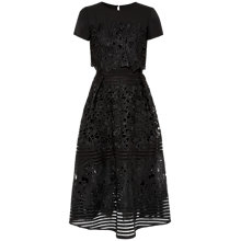 Buy Ted Baker Janelle Layered Lace Midi Dress, Black Online at johnlewis.com