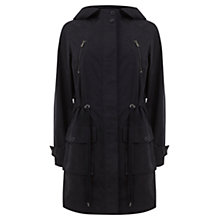 Buy Mint Velvet Hooded Parka, Navy Online at johnlewis.com