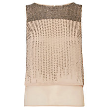 Buy Coast Peppo Embellished Top, Blush Online at johnlewis.com
