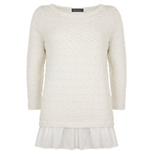 Buy Mint Velvet Peplum Jumper, Cream Online at johnlewis.com