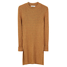 Buy Mango Ribbed Jumper, Medium Yellow Online at johnlewis.com