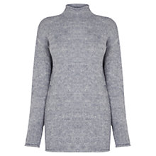 Buy Warehouse Cosy Oversized Tunic, Light Grey Online at johnlewis.com