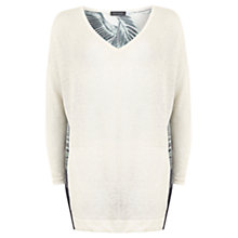 Buy Mint Velvet Kiya Print Cocoon Jumper, Ivory/Multi Online at johnlewis.com