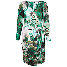 Buy Closet Meta Wrap Front Print Dress, Multi Online at johnlewis.com