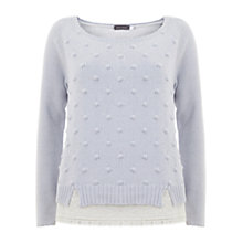 Buy Mint Velvet Layered Textured Jumper, Blue Online at johnlewis.com