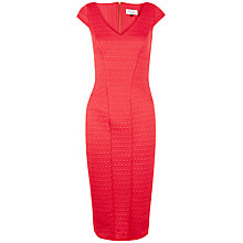 Buy Closet Waffle Textured Bodycon Dress, Red Online at johnlewis.com
