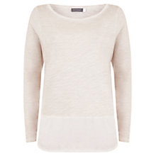 Buy Mint Velvet Long Sleeve Hem Tee, Pale Pink Online at johnlewis.com