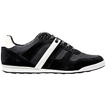 Buy BOSS Green Arkansas Leather Mix Trainers Online at johnlewis.com