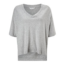Buy Samsoe & Samsoe Sania T-Shirt, Grey Grains Online at johnlewis.com