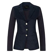 Buy Oui Patch Linen Front Blazer, Night Sky Online at johnlewis.com