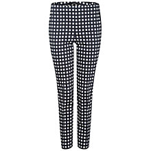Buy Oui Check Trousers, Blue/White Online at johnlewis.com