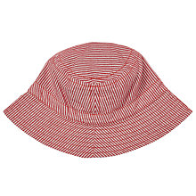 Buy John Lewis Baby Ticking Stripe Reversible Sun Hat, Red/White Online at johnlewis.com