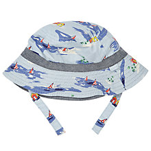 Buy John Lewis Baby Boat Print Chambray Hat, Blue Online at johnlewis.com