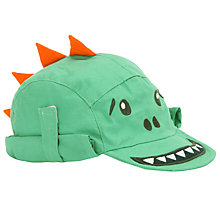 Buy John Lewis Baby Dinosaur Keppi Hat, Green Online at johnlewis.com