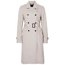 Buy French Connection Canyon Twill Trench Coat, African Stone Online at johnlewis.com