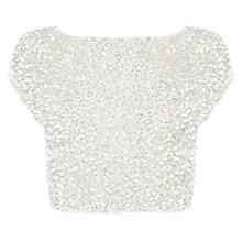 Buy Coast Suletta Sequin Top, Blush Online at johnlewis.com