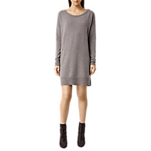 Buy AllSaints Char Cashmere Jumper Dress, Putty Grey Marl Online at johnlewis.com