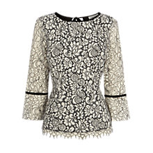 Buy Coast Kolora Lace Top, Monochrome Online at johnlewis.com