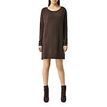 Buy AllSaints Cashmere Char Jumper Dress, Slate Black Online at johnlewis.com