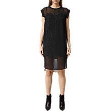 Buy AllSaints Allura Embroidered Dress, Black Online at johnlewis.com