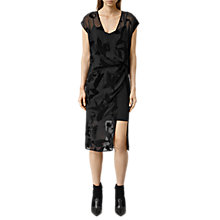 Buy AllSaints Kelso Lux Dress, Black Online at johnlewis.com