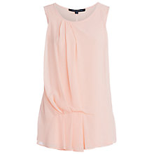 Buy French Connection Florrie Pleated Drape Detail Top, Apricot Spritz Online at johnlewis.com
