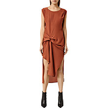 Buy AllSaints Riviera Dress, Outback Orange Online at johnlewis.com