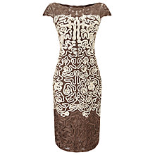 Buy Phase Eight Akiko Tapework Dress, Praline/Cream Online at johnlewis.com