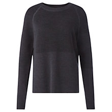 Buy Jigsaw Merino Blocked Ottoman Jumper, Slate Grey Online at johnlewis.com