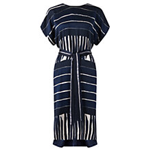 Buy Jigsaw Engineered Stripe Kimono Dress, Navy Online at johnlewis.com