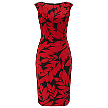 Buy Phase Eight Leaf Print Dress, Red/Black Online at johnlewis.com